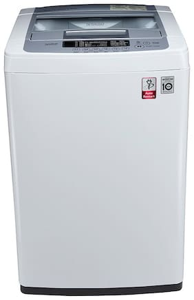 LG 6.5 Kg Fully automatic top load Washing machine - T7569NDDLH , Silver