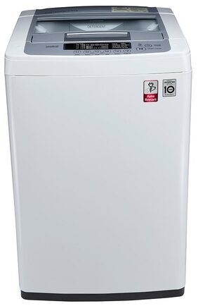 LG 6.5 Kg Fully Automatic Top Load Washing Machine (T7569NDDL, Middle Free Silver/Deep Brown)