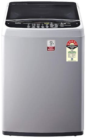 LG 6.5 kg Fully automatic top load Washing machine - T65SNSF1Z , Silver