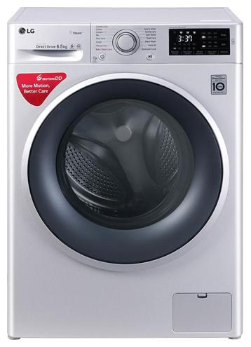 LG 6.5 Kg Fully automatic front load Washing machine   FHT1065SNL , Silver by Crazy Deals