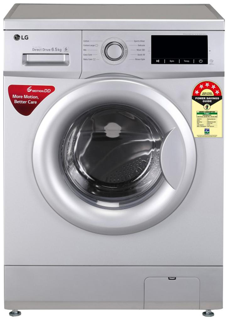 LG 6.5 kg Fully automatic front load Washing machine   FHM1065ZDL.ALSQEIL , Silver