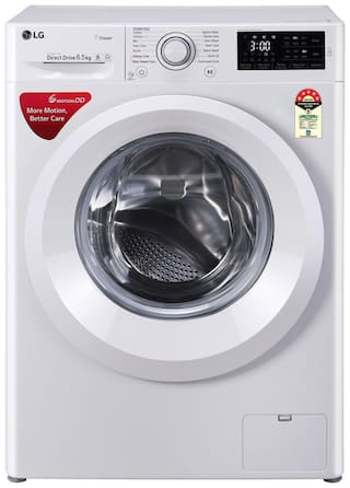 LG 6.5 kg Fully Automatic Front Load Washing machine - FHT1065HNL , White