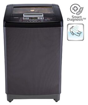 LG 6.5 Kg Fully Automatic Top Load Washing Machine (T7567TEDLK, Black Knight)