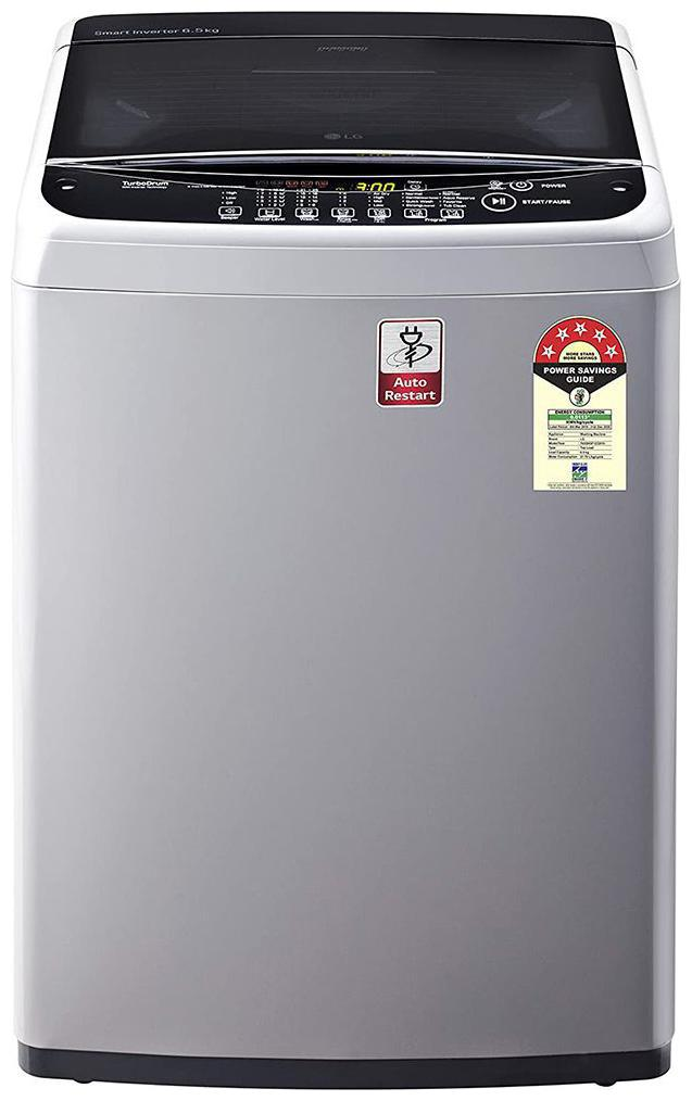 LG 6.5 kg Fully Automatic Top Load Washing Machine (T65SNSF1Z , Silver)