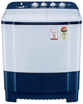 LG 6.5 Kg Semi automatic top load Washer with dryer - P6510NBAY , Dark blue