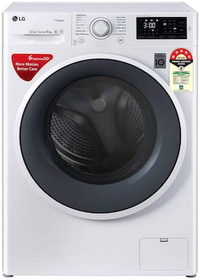 LG 6 kg Fully Automatic Front Load Washing machine - FHT1006ZNW , White