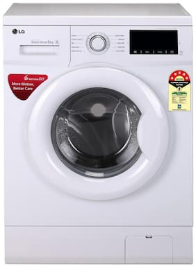 LG 6 kg Fully automatic front load Washing machine - FHM1006ADW.ABWQEIL , White