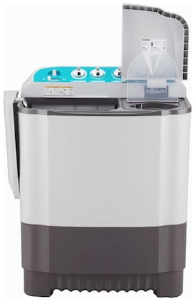 LG 6 kg Semi Automatic Top Load Washer with dryer - P6001RG , Black & White