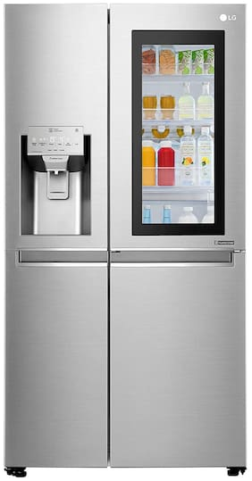LG 668 L Frost Free Side by Side Refrigerator (Noble Steel  GC-X247CSAV)