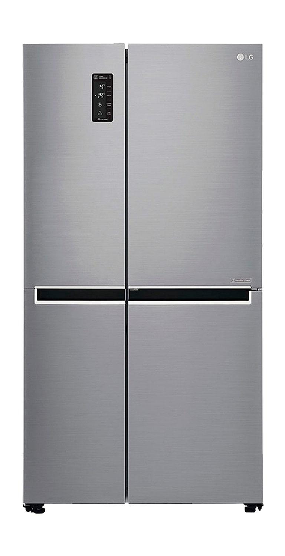 LG 687 L Frost Free Side by Side Refrigerator (GC B27SLUV, Shiny Steel)
