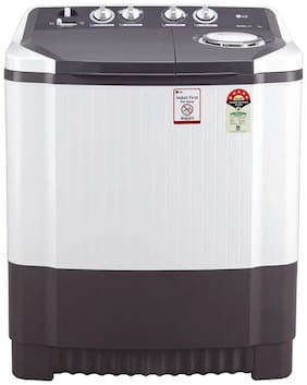 LG 7.5 kg Semi automatic top load Washer with dryer - P7530SGAZ , White & Grey