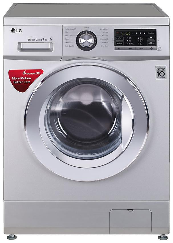 LG 7 kg Fully automatic front load Washing machine   FH2G6HDNL42 , Silver