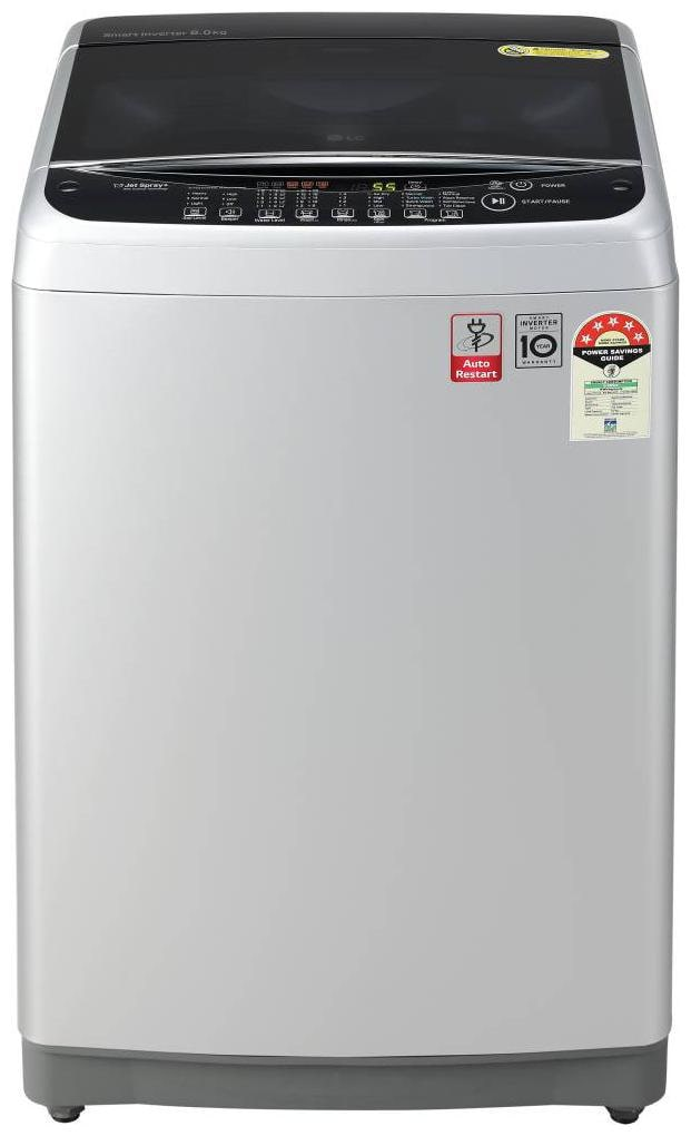 LG 7 kg 5 Star Rating Fully Automatic Top Load Silver (T70SJFS1Z)