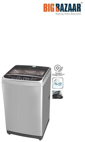 LG 7 Kg Fully Automatic Top Load Washing Machine (T8077TEELY, Free Silver+Burgundy)