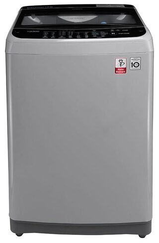 LG Fully Automatic Top Load Washing Machine ( T8077nedlj , Middle Free Silver/ Deep Brown )