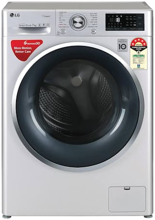 LG 7 kg Fully Automatic Front Load Washing machine - FHT1207ZWL , Silver