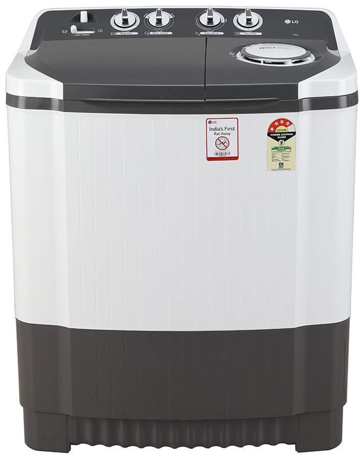LG 7 kg Semi Automatic Top Load Washing machine   P7020NGAY , Dark grey by Noida Direct