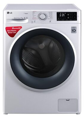LG 7KG Fully Automatic Washing Machine (FHT1007SNL,Silver)