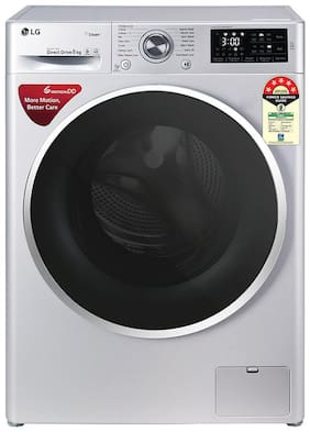 LG 8 kg Fully automatic front load Washing machine - FHT1208ZNL , Silver