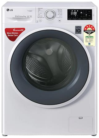 LG 8 kg Fully Automatic Front Load Washer with dryer - FHT1208ZNW , White