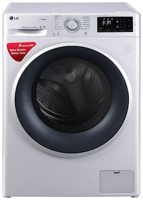 LG 8 kg Fully automatic front load Washer with dryer - FHT1208SNL , Silver