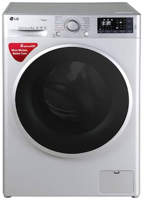 LG 8 Kg Fully automatic front load Washing machine - FHT1408SWL , Silver