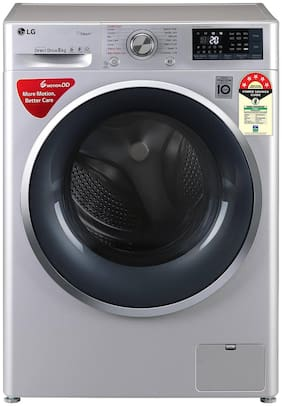 LG 8 kg Fully automatic front load Washing machine - FHT1408ZWL , Silver