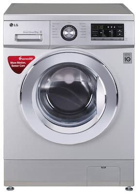 LG 8 Kg Fully automatic front load Washing machine - FH2G6TDNL42 , Luxury silver