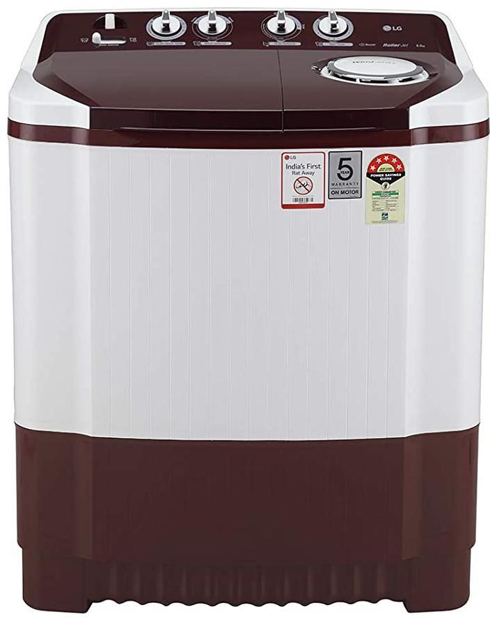 LG 8 kg Semi Automatic Top Load Washing Machine (P8030SRAZ , Wine;White)