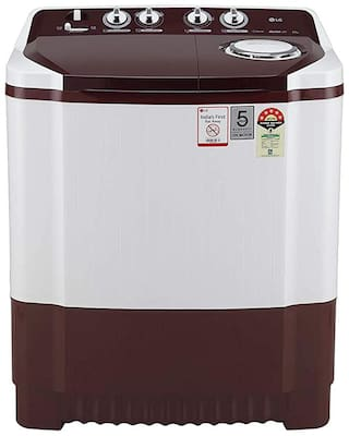 LG 8 kg Semi Automatic Top Load Washer with dryer - P8030SRAZ , Wine & White