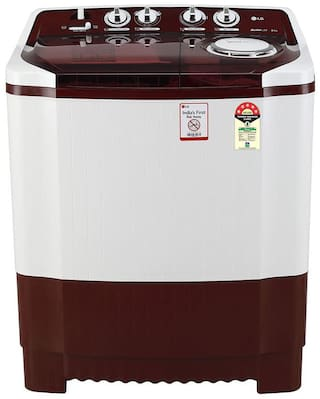 LG 8 kg Semi Automatic Top Load Washing machine - P8035SRMZ , Burgundy
