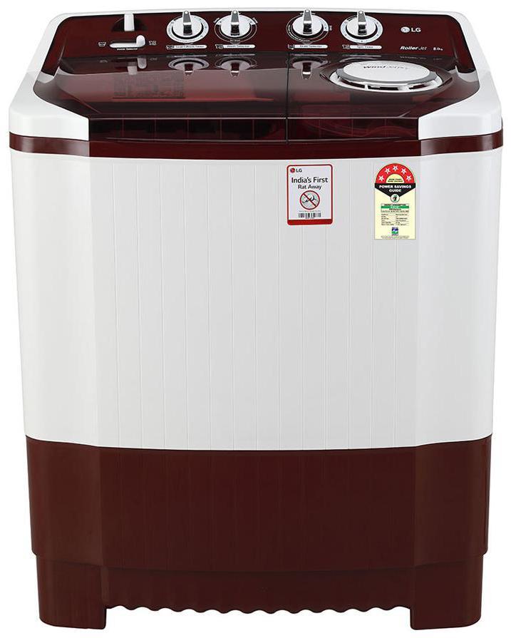 LG 8 Kg Semi Automatic Top Load Washing Machine (P8035SRMZ, Burgundy)