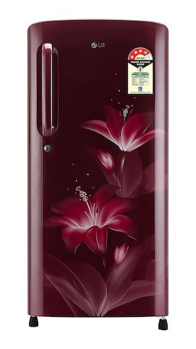 LG 190 L 4 Star Direct Cool Refrigerator - GL-B201ARGX , Ruby Glow