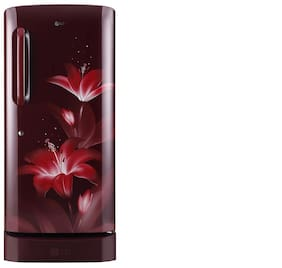 LG 215 ltr 5 star Direct cool Refrigerator - GL-D221ARGY , Ruby glow