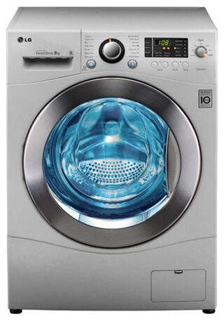 LG 8 Kg Fully Automatic Front Load Washing Machine (F1496TDP23, Blue White)