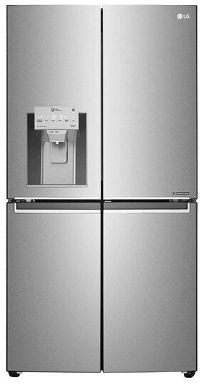 LG Frost Free 889  Side By Side Refrigerator ( GR-J31FTUHL , Shiny Steel)