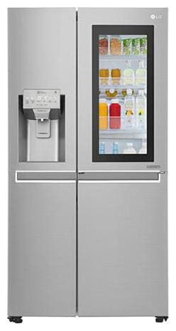 LG Frost Free 668 L Side By Side Refrigerator (GC-X247CSAV, Silver)
