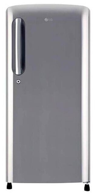 LG 190 L Single Door Refrigerator (GL-B201APZX, Shiny Steel)