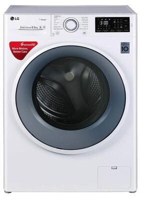 LG Fully Automatic Front Load Washing Machine FHT1065SNW Blue;White
