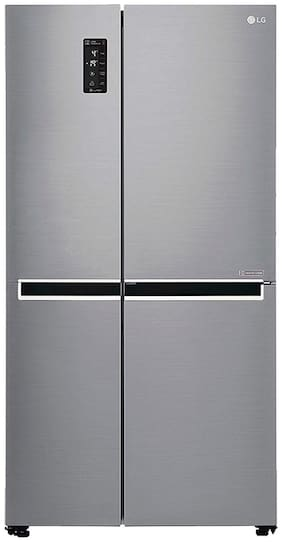 LG Multi Air Flow 687 L Side By Side Refrigerator (GC-B247SLUV, Shiny Steel)