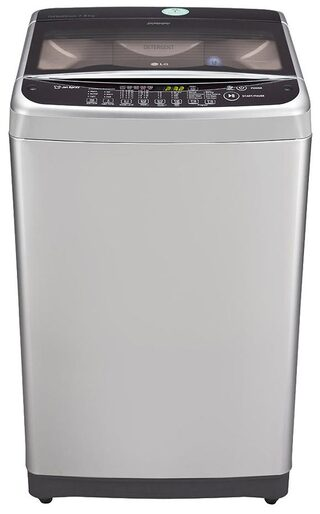 LG 7.5 Kg Fully Automatic Top Load Washing Machine (T8577TEELY, Free Silver+Burgundy)