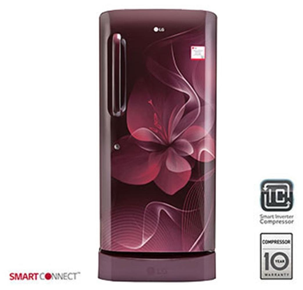 LG Direct Cool 215 L Single Door Refrigerator (GL-D221ASDX, Scarlet Dazzle)