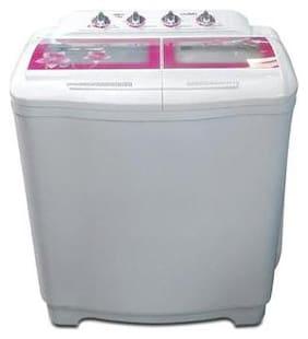 Lloyd 7.5 Kg Semi automatic top load Washing machine - LWMS75 , Pink & White