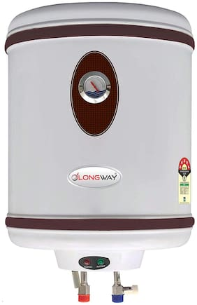 LONGWAY HOTPLUS 25 ltr. White Storage Water Heater Capsule Type SS Tank