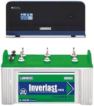 Luminous 1100 + Il 18039 Pure Sinewave Inverter ( Black & Green )