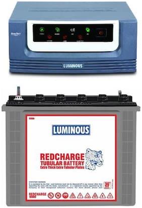 Luminous Eco Volt 1050 VA Inverter With RC18000 150Ah Tubular Battery