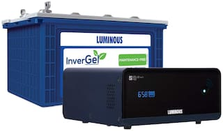 Luminous InverGel IGSTJ18000 150 Ah Gel Tubular Battery + Zelio 1100 Wifi