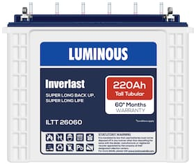 Luminous LTT26060220AH 220 Ah Tall-Tubular Inverter Battery