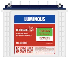 Luminous RC18000150AH 150 Ah Tall-Tubular Inverter Battery