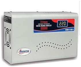Microtek EM4150+ Voltage Stabilizer For AC upto 1.5 Ton (150V-280V)(White)